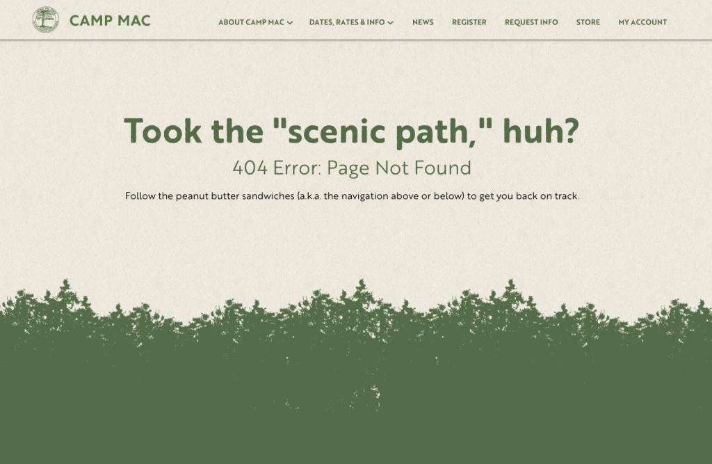 Camp Mac 404 Page